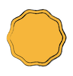 Blank guarantee certificate label badge icon vector