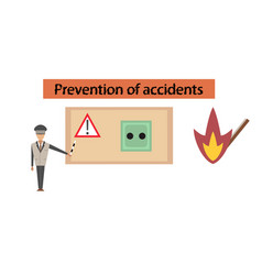 Assembly flat icons safety lessons vector