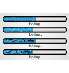 Loading bar water and fish vector