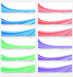 Colorful web business header footer banner set vector