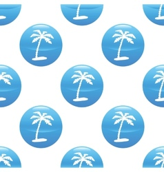 Palm tree sign pattern vector