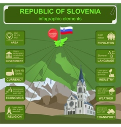 Slovenia infographics statistical data sights vector