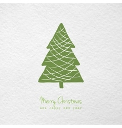 Christmas greeting card with hand drawn stylized vector