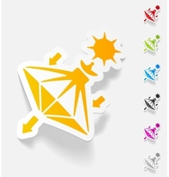 Realistic design element solar sails vector