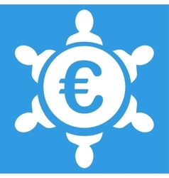 Euro collaboration icon vector
