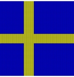 Knitted flag of sweden vector