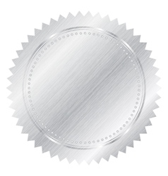silver seal vector image