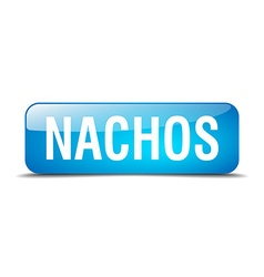 Nachos blue square 3d realistic isolated web vector