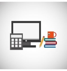 Office design supply icon isolated vector