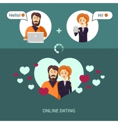 On-line dating vector