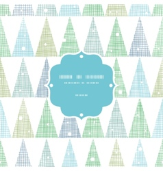 Abstract christmas trees forest in snow frame vector