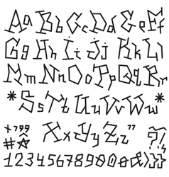 Alphabet Font - vector image