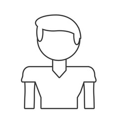 boy son male family outline vector image