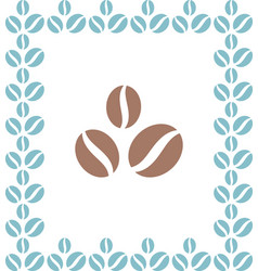 coffee beans brown icon vector image