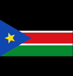 Colored flag of south sudan vector
