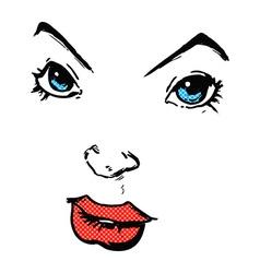 Comic cartoon comic book face vector