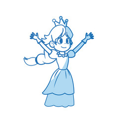 comic princess fairy tale character image vector image