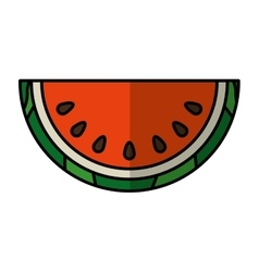 Delicious fresh fruit icon vector