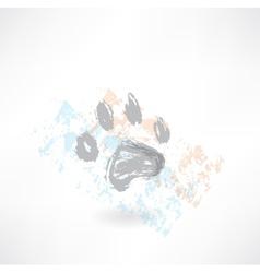 Dog track grunge icon vector