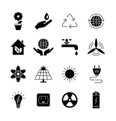 Ecology and energy icons universal icon to vector