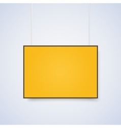 Empty yellow a4 sized paper mockup vector