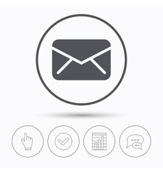 Envelope icon Send message sign vector image vector image