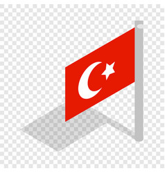 flag of turkey isometric icon vector image vector image