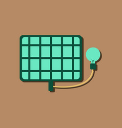 Flat icon design collection solar battery and vector