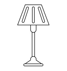 Floor lamp decoration thin line vector