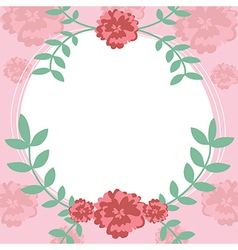 Flower and leaf frame background vector image vector image