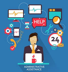 Freelance career administrative assistance vector