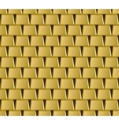 Golden bar stack seamless pattern vector image