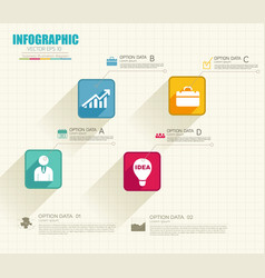 Infographic web concept vector