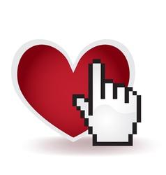 Love Click vector image