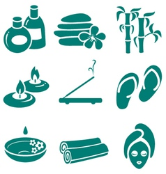 minimalistic spa icons set vector image vector image