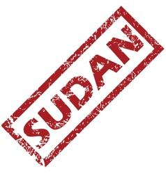 New sudan rubber stamp vector