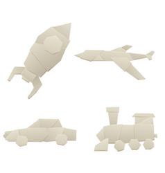 Origami logistic paper transport concept original vector