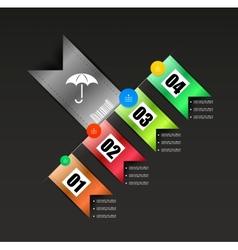Ribbon modern infographics template vector image