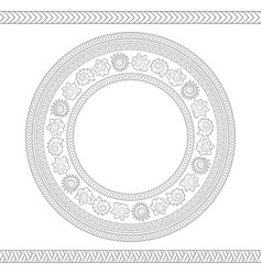 Seamless pattern with shells polynesian patterns vector