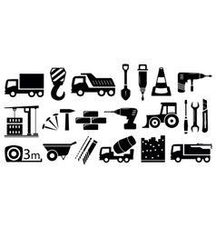 set industrial construction objects vector image