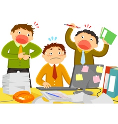 stressful work vector image