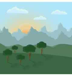 Summer landscape with mountains vector image vector image