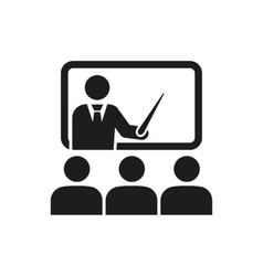 The training icon teacher and learner classroom vector