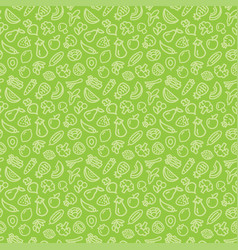 Vegetables and fruits seamless pattern background vector