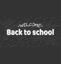 Welcome back to school black desk banner vector