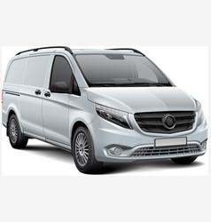 White light commercial vehicle vector