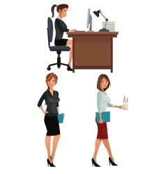 Women office business coworkers employee vector