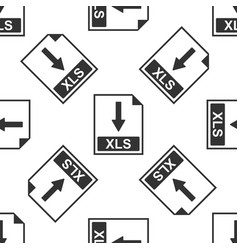 Xls file document icon download xls button icon vector