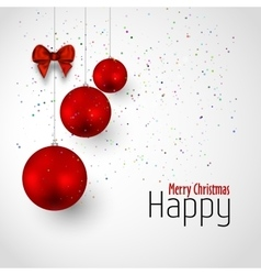 Xmas background with red balls vector image vector image