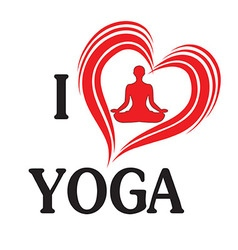 Yoga love heart of silhouette vector image vector image